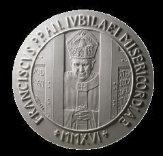 Monetazione Aurea da 50 €, recto di modello in gesso. Committente: Città del Vaticano, 2016.