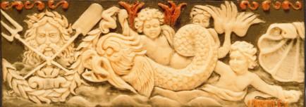 Modellazione in bassorilievo in cera e ardesia 15 cm x 5 cm, 2009