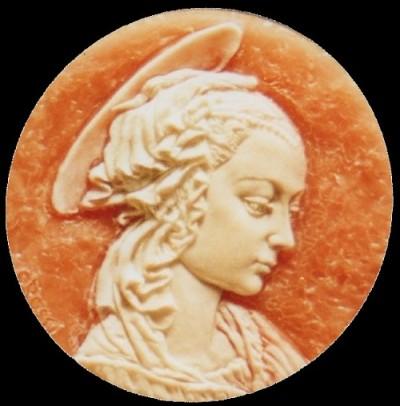 Pendente, modello in cera, realizzato in oro. 4 cm x 4 cm. Committente privato, 2003