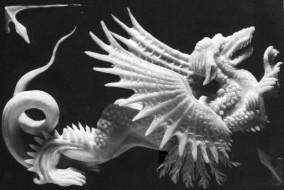 Altorilievo modellato in cera su ardesia 10 cm x 7 cm