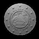 Moneta da 2€, recto di modello in gesso. Committente Principato D'Andorra, 2015