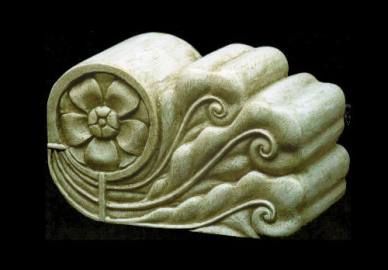 Reggi libro. Scultura a tutto tondo realizzata in gesso e polvere di marmo, patinato 24 cm x 14 cm x 6,5 cm. Committente privato