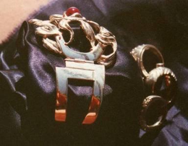Bracciale in argento con rubino. Committente privato, 2005