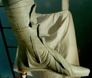Particolare della copia del monumento equestre di Marco Aurelio. Modellazione in plastilina.
