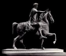 Copia in argento della statua equestre di Marco Aurelio. Bronzetto in scala 1:16 (realizzato in collaborazione). Committente: I.P.Z.S. Istituto Poligrafico Zecca dello Stato,1997