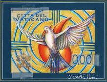 Disegno per cartolina, impronta. Committente: Città del Vaticano, 2015.