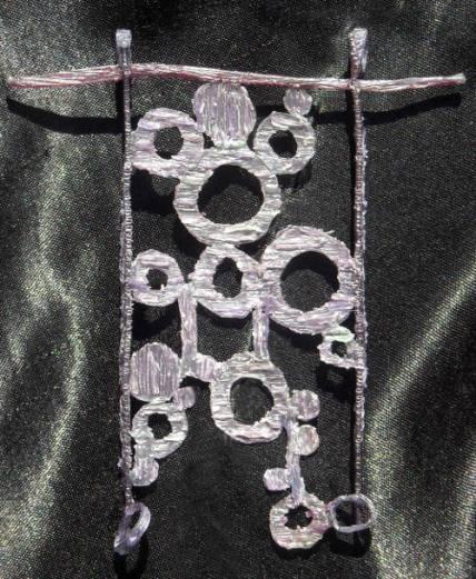 Pendente, modello in cera, realizzato in argento. Committente privato, 2010