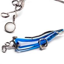 Collana in argento con vetri colorati. Committente privato, 2009