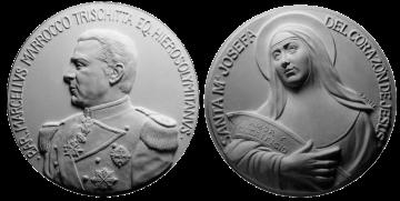 Barone Marcello Marrocco Trischitta, Cavaliere d'Onore e Devozione - Ordine Cavalieri di Malta e Santa Maria Josefa. Recto di modelli in gesso per medaglie di bronzo coniato. Committente privato, 1999 - 2005