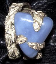 Particolare di anello in argento. Committente privato, 2011