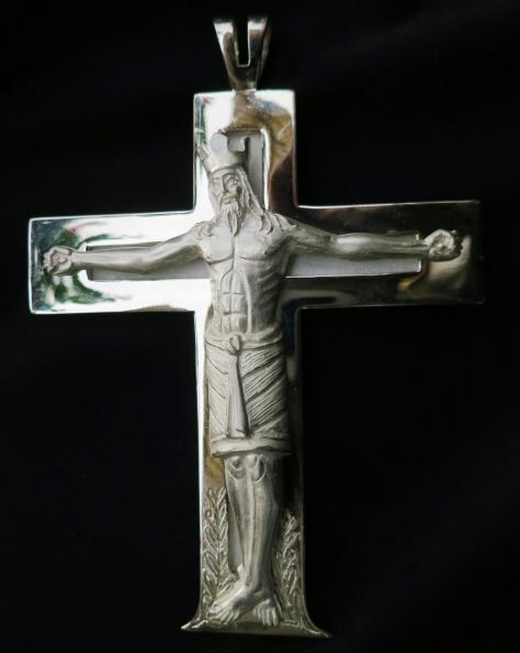 Pettorale in argento e salgemma, realizzato per essere donato da Papa Francesco ai Vescovi in occasione del viaggio in Terra Santa