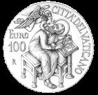 Disegno per il verso della Monetazione Aurea da 100€. Committente: Città del Vaticano, 2015.