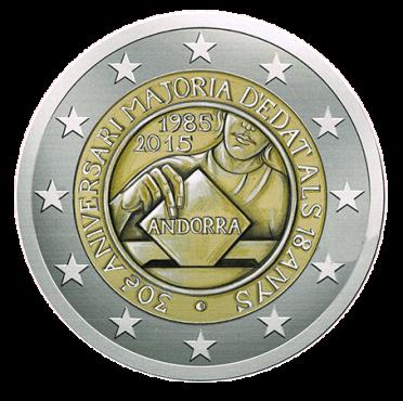 Disegno per Moneta da 2€. Committente: Principato d'Andorra, 2015.