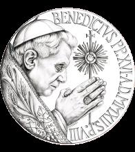 Disegno per il recto della Monetazione Aurea da 200€. Committente: Città del Vaticano, 2012.