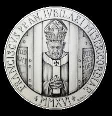 Disegno per il recto della Monetazione Aurea da 50€. Committente: Città del Vaticano, 2016