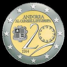 Disegno per Moneta da 2€. Committente: Principato d'Andorra, 2014.