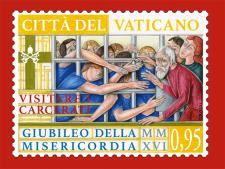 Disegno per francobollo. Committente: Città del Vaticano, 2016.
