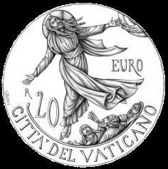 Disegno per il verso della Moneta da 20€, Committente: Città del Vaticano, 2018
