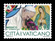 Disegno per francobollo. Committente: Città del Vaticano, 2017.