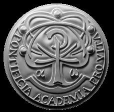 Verso di modello in gesso per la realizzazione di medaglie coniate in bronzo, realizzata per la PONTIFICIA ACCADEMIA PRO VITA. Committente: Città del Vaticano, 2017