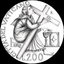 Disegno per moneta da 200 euro. Committente: Città del Vaticano, 2012.