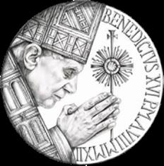 Disegno per moneta Aurea da 200 euro. Committente: Città del Vaticano, 2012.