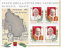 Disegni per francobolli e minifoglietto. Committente: Città del Vaticano, 2019.