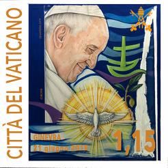 Disegno per francobollo. committente: Città del Vaticano, 2019.
