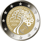 Disegno per recto moneta da 2€. Committente: Principato D'Andorra, 2020